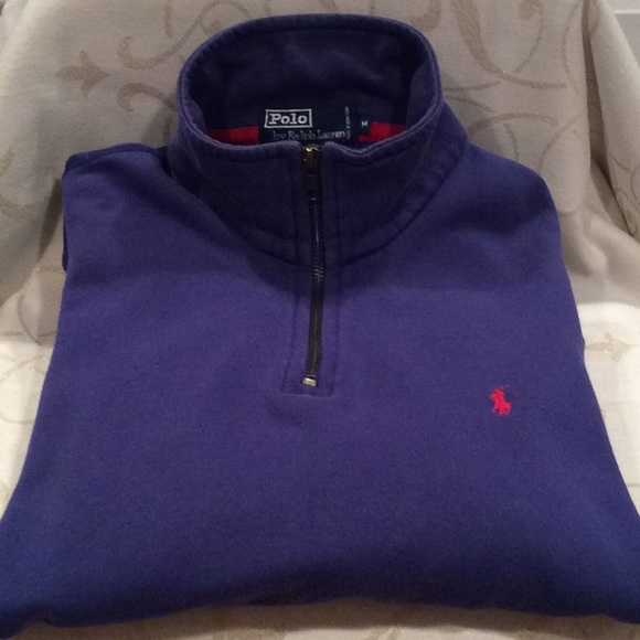 black polo half zip sweater lilac polo